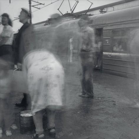 Boarding a Local Train, Kuptchino Railway Station, St. Petersburg, 1993