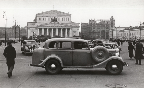 Bolshoi Theater, Theater Square, Moscow, 1935Gelatin silver print, printed later11 ½ x 7 1/16 in. (29.2 x 17.9 cm)Photographer's stamp on verso