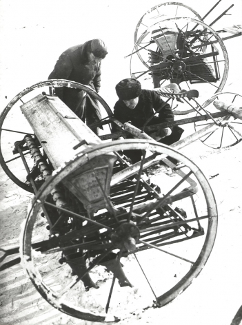 Preparing the Fields, Lenin Kolkhoz, 1930s, Gelatin silver print, printed later