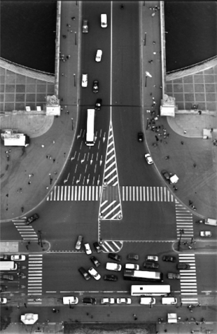 Looking Down from the Eiffel Tower,2000, Gelatin silver print