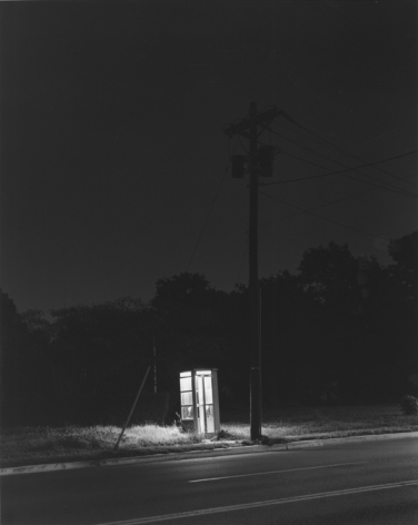 George Tice (b. 1938, Newark), Telephone Booth, 3 A.M., Rahway, NJ, 1974