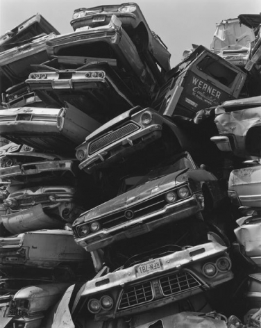 George Tice (b. 1938, Newark), Junked Cars, Route #1, Newark, NJ, 1973, printed 8/4/06