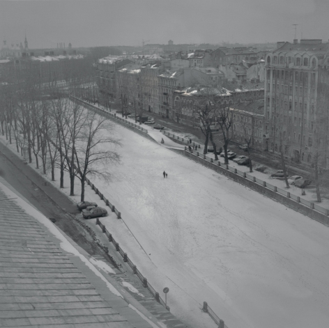 Frozen Griboedov Canal, St. Petersburg, 1997, Toned gelatin silver print
