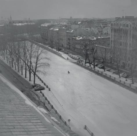 Frozen Griboedov Canal, St. Petersburg, 1997