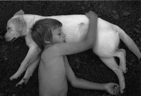 Pyhäjärvi, Finland (Sleeping Boy and Dog),2000, Gelatin silver print