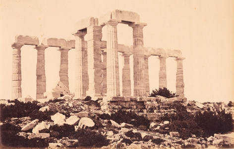 Demetrius Constantine (1886-1954), Temple of Zeus, Sounion, 1858