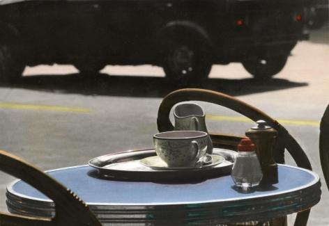 Blue Table, Paris, 1977
