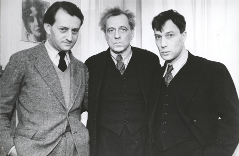 André Malraux, Vsevolod Meyerhold and Boris Pasternak, Moscow, 1934-1936