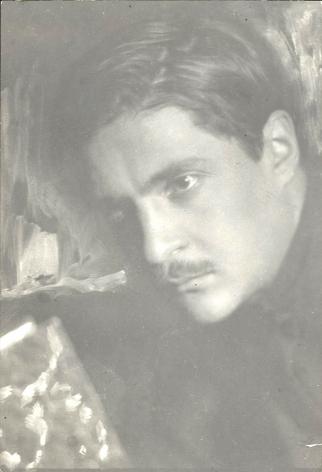 Untitled (portrait of a writer), 1920sVintage gelatin silver print6 1/2 x 4 3/8 in. (16.5 x 11.1 cm)