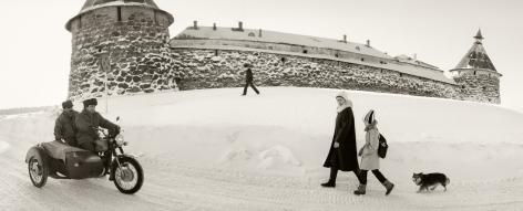 Solovki, White Sea, Russia (Snowy Fortress),1992, Gelatin silver print