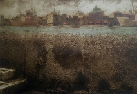 Venice, 1987 Hand-tinted sepia-toned gelatin silver print