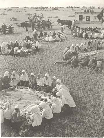 Lunch in the Fields, 1934, Vintage gelatin silver print