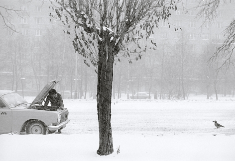 Moscow, Russia (broken down car), 1980