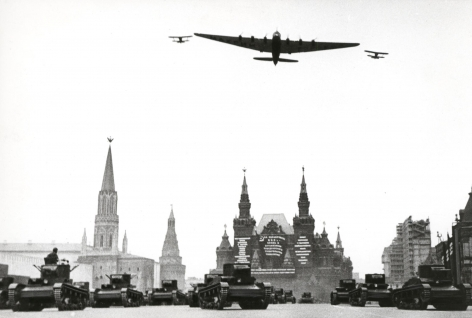 Over Red Square, Moscow (Maxim Gorky), 1934