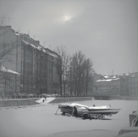 Boat on Frozen Canal, St. Petersburg, 2005