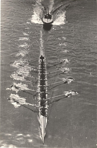 Motor Boat and Eight Oarsmen, 1939, Vintage gelatin silver print