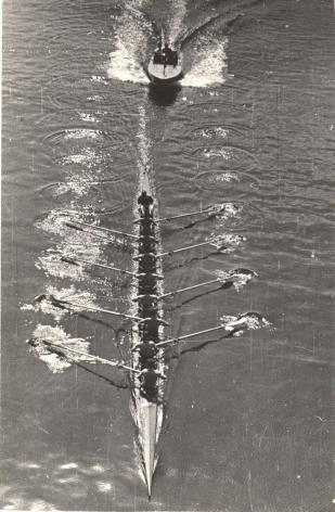 Motor Boat and Eight Oarsmen, 1939, Vintage gelatin silver print