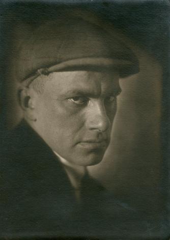 Portrait of Mayakovsky, 1924, Vintage gelatin silver print mounted on paper