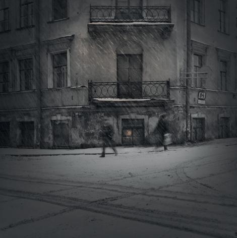 Evening Snow, St. Petersburg, 1996