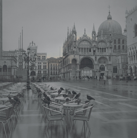 Pigeons on Tables, Venice, 2006