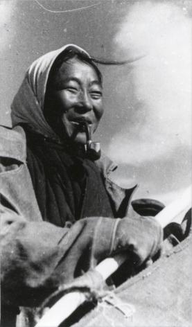 Georgy Lipserkov (1896-1977), Fishing Woman, Buryat-Mongolia, 1938