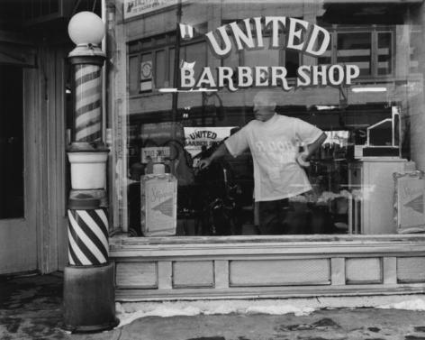 George Tice United Barber Shop, Newark, New Jersey