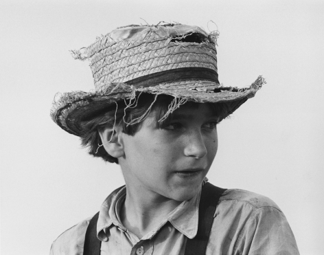 Amish Boy with Straw Hat, Lancaster, Pennsylvania, 1965, printed 2015