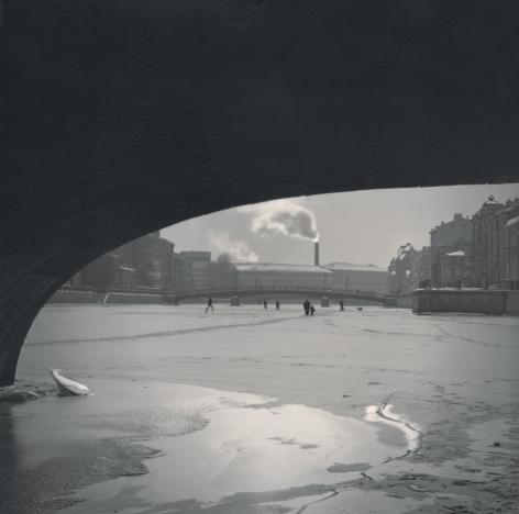 On Fontanka River Under the Bridge, St. Petersburg, 2006