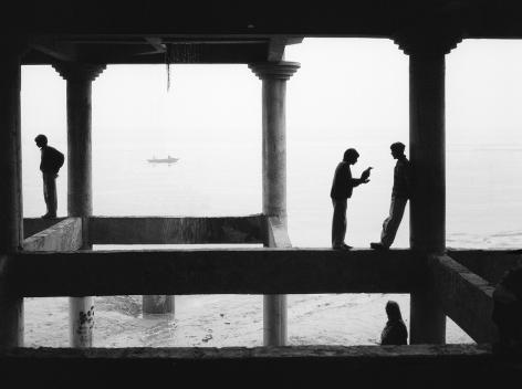 Varanasi, India (men and boat),1999, Gelatin silver print