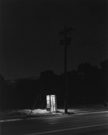 George Tice Telephone Booth, 3 AM, Rahway, New Jersey