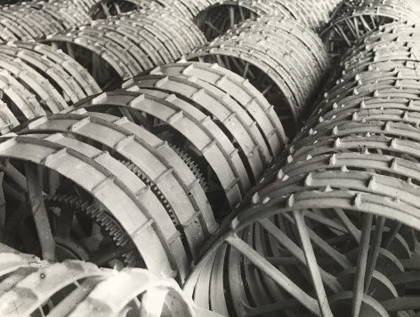 Reaping Machine Wheels, 1929, Gelatin silver print
