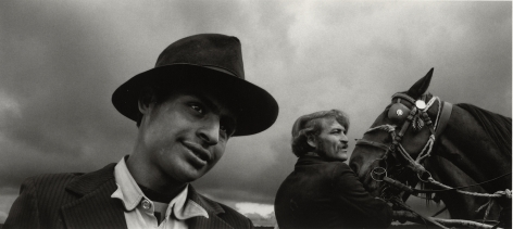Pécs, Hungary (man with hat), 1980