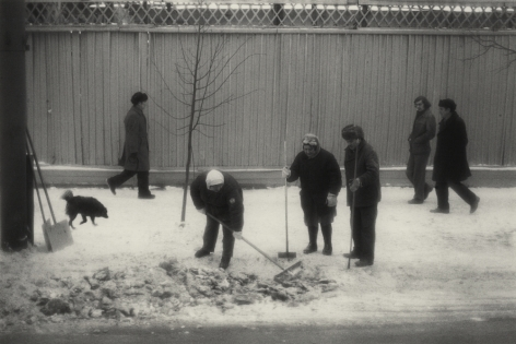Moscow, Russia (Shoveling Snow),1980, Gelatin silver print