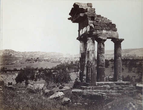 Unknown photographer, Temple of Castor and Pollux, Agrigento, Sicily, ca. 1800s