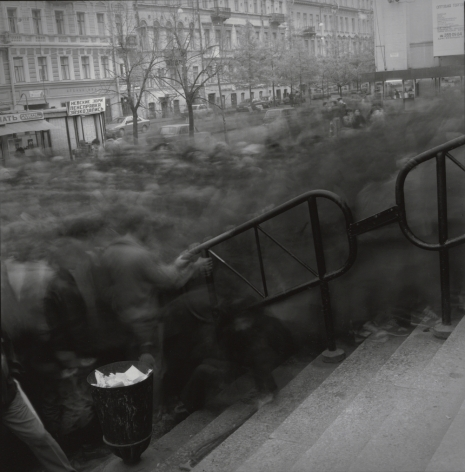 Crowd going to Vasileostrovskaya Metro Station, 1993