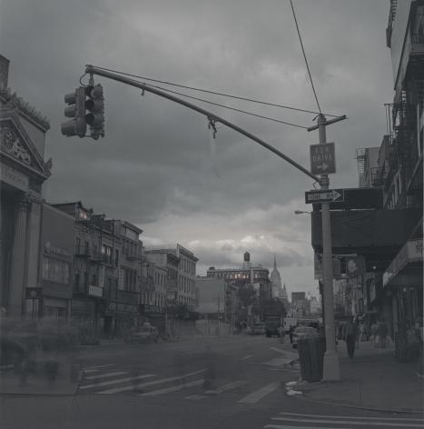 Streetlight on Bowery, New York, 2010