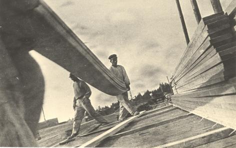 Stacking Lumber, Vakhtan Sawmill, 1930, Gelatin silver print