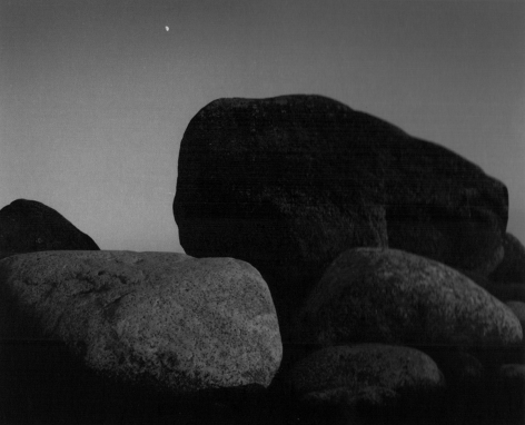 Pitkäviira, Finland (boulders with moon), 1973