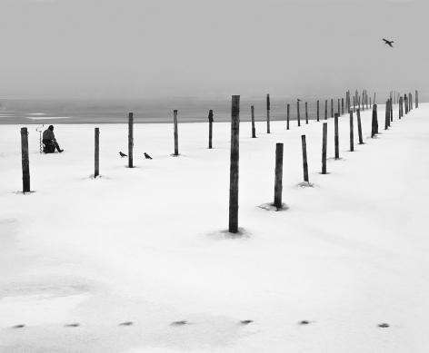 Helsinki, Finland (posts in snow), 2011, Gelatin silver print