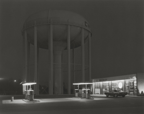 George Tice (b. 1938, Newark), Petit's Mobil Station, Cherry Hill, New Jersey, 1974