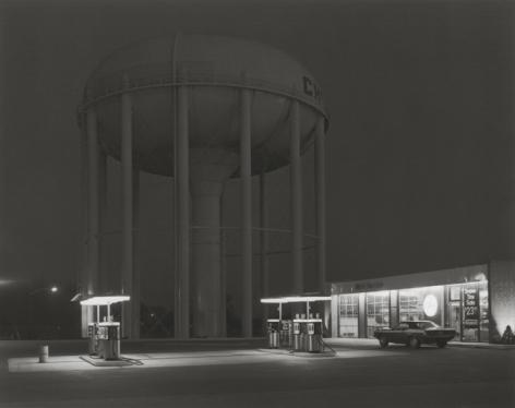 George Tice (b. 1938, Newark), Petit's Mobil Station, Cherry Hill, New Jersey, 1974