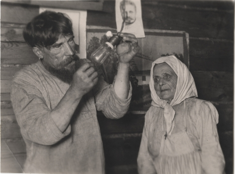 Lenin's Light Bulb. Peasants Turn on the Electricity for the First Time, 1925, Vintage gelatin silver print