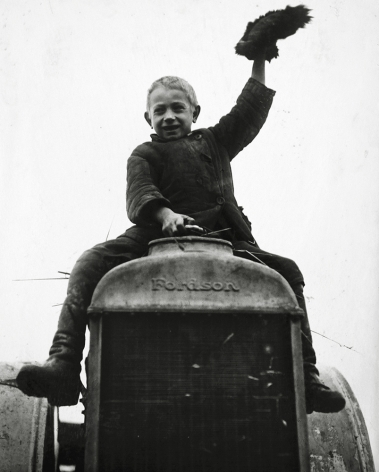 First Tractor, 1926, Gelatin silver print mounted on board