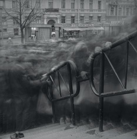 Alexey Titarenko (b. 1962, St. Petersburg), Vasileostrovskaya Metro Station (Variant Crowd 2), St. Petersburg, 1992