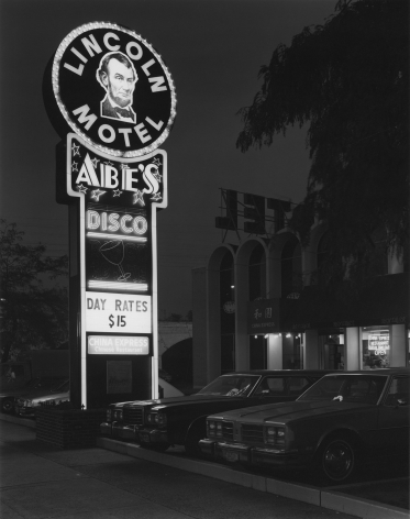 George Tice (b. 1938, Newark), Lincoln Motel and Abe's Disco, Newark, NJ