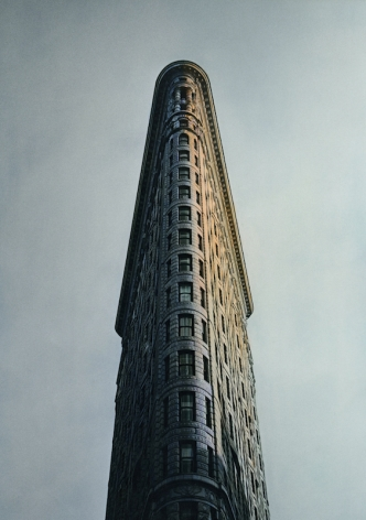 Flatiron, New York, 1997, Gelatin silver print with applied oil paint