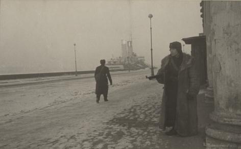 Sentry post on the Neva embankment