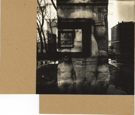 Untitled, 1988, Unique mounted photomontage with gelatin silver print
