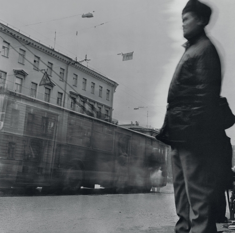 Man at the Tram Stop, Saint Petersburg, 1992