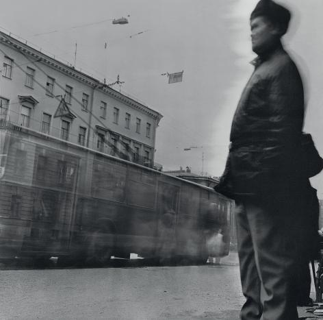 Man at the Tram Stop, Saint Petersburg, 1992